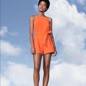 NWT Orange Scallop Romper Victoria Beckham